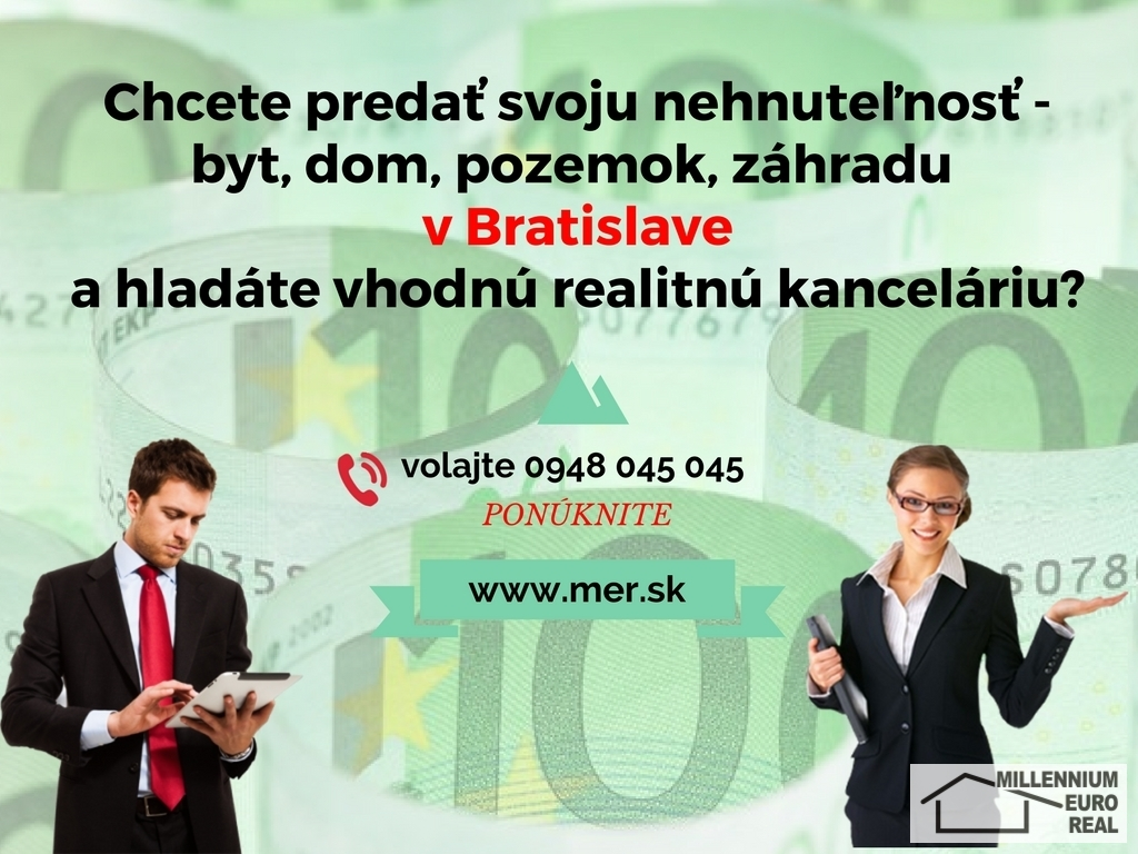 kúpa bytu, p9edaj bytu, HOTOVOSŤ,výkup bytu, nehnuteľností, hotovosť, dražba, exekúcia MILLENNIUM EURO REAL