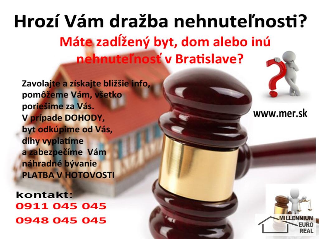 kúpa bytu, predaj bytu, HOTOVOSŤ,výkup bytu, nehnuteľností, hotovosť, dražba, exekúcia MILLENNIUM EURO REAL