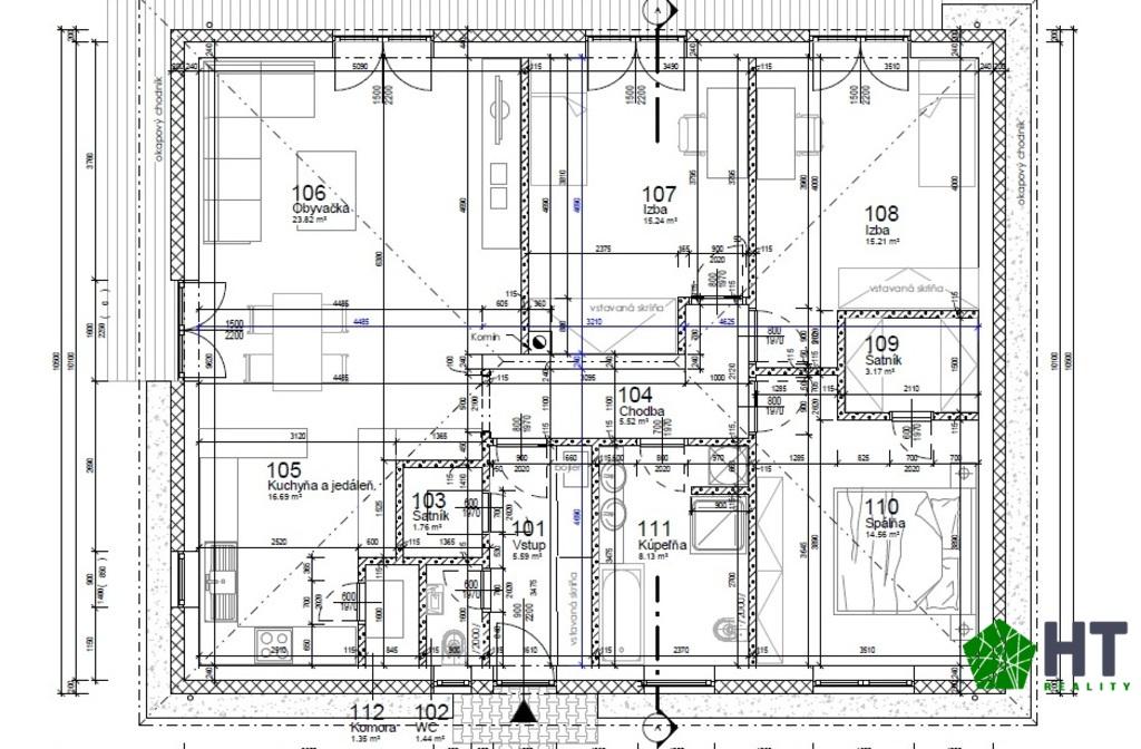 Pôdorys 112,5 m2